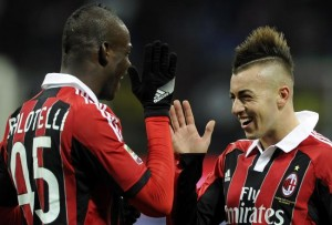 Mario Balotelli and Stephan El Shaarawy - the future of Milan and Italy.