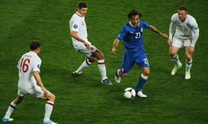Andrea Pirlo runs rings round England midfield